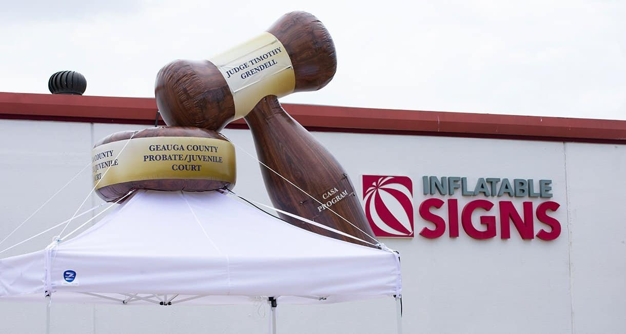 custom inflatable gavel for geauga county probate juvenile court