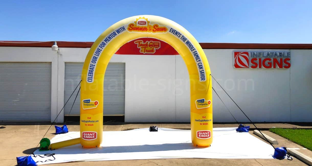 custom standard inflatable arch made in the usa