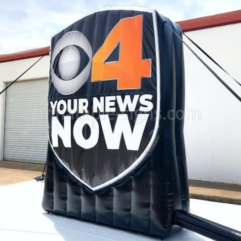 Inflatable Signage for CBS4 Indy, Your news now