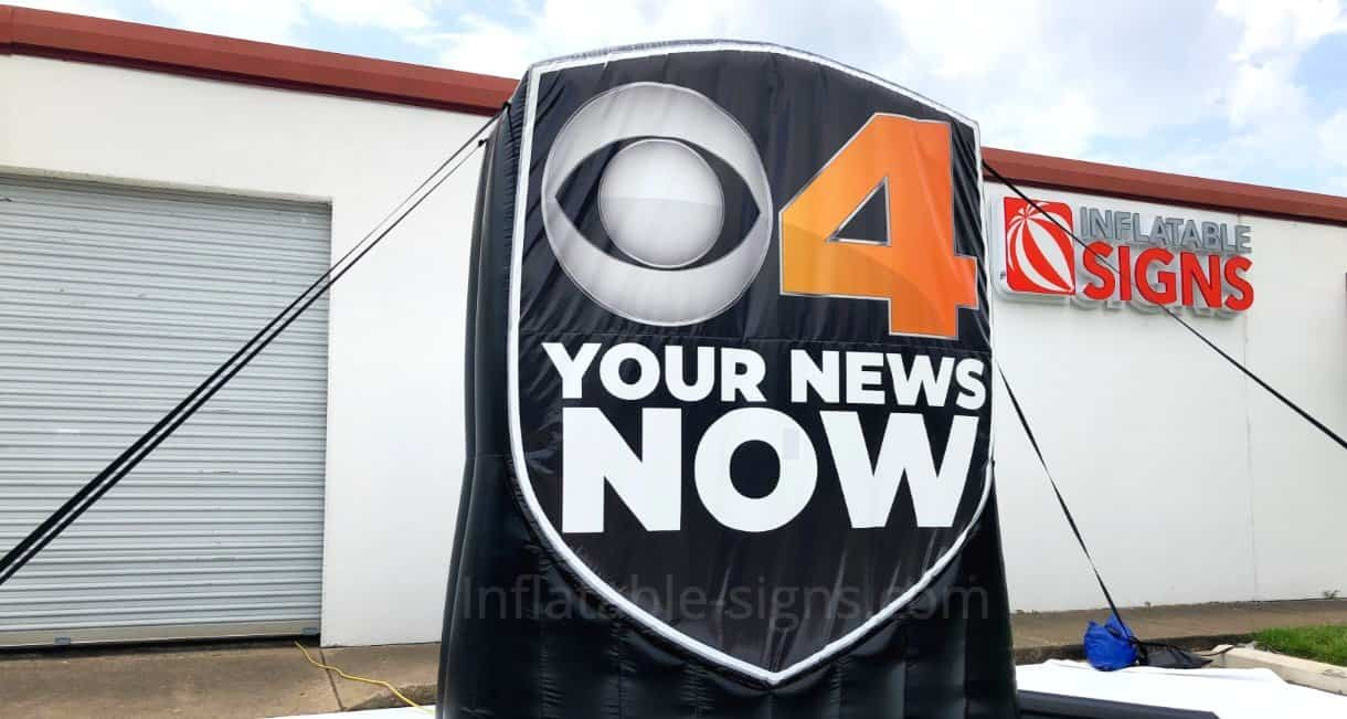 Custom CBS4-Inflatable Logo made by Inflatable Signs LLC