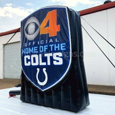 indianapolis Colts Inflatable CBS4 Indy Inflatable Logo