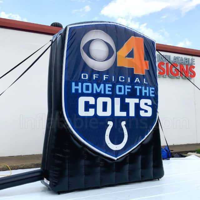 CBS4 Indy indianapolis Colts Custom Inflatable Logo