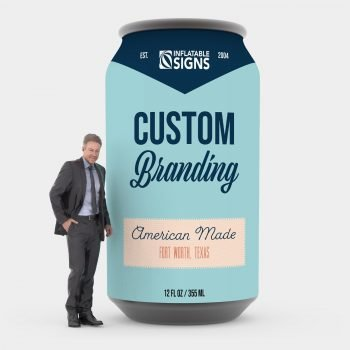 custom inflatable branded can replica