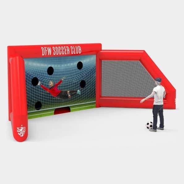 custom branded inflatable soccer goal